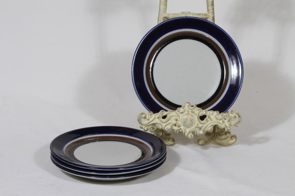 Arabia Saara lautaset, 4 kpl, suunnittelija Anja Jaatinen-Winquist, pieni, puhalluskoriste, retro