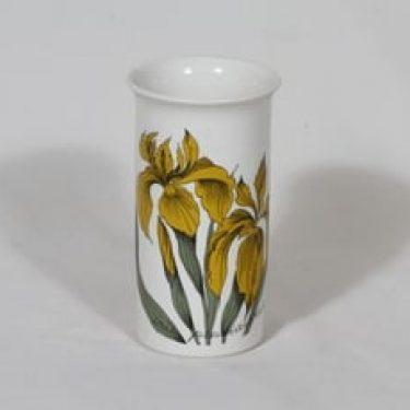 Arabia Botanica maljakko, Keltainen kurjenmiekka, suunnittelija Esteri Tomula, Keltainen kurjenmiekka, serikuva