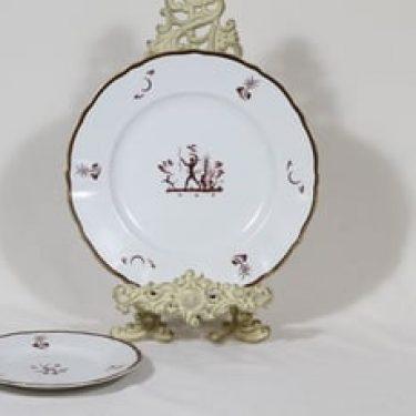 Arabia Diana lautaset, eri kokoja, 2 kpl, suunnittelija Einar Forseth, eri kokoja, siirtokuva, art deco