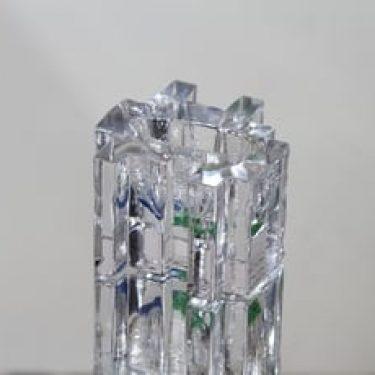 Riihimäen lasi Forest taidelasi, kirkas, suunnittelija Helena Tynell, pieni, jauhevärjätty