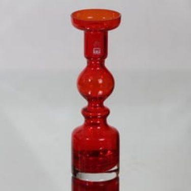 Riihimäen lasi Pompadour maljakko, punainen, suunnittelija Nanny Still,