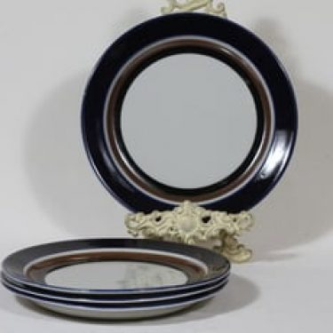 Arabia Saara lautaset, käsinmaalattu, 4 kpl, suunnittelija Anja Jaatinen-Winquist, käsinmaalattu