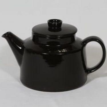 Arabia Kilta teekaadin, musta lasite, suunnittelija Kaj Franck,