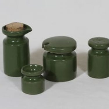 Arabia B mausteastiat, vihreä lasite, 4 kpl, suunnittelija Gunvor Olin-Grönqvist,