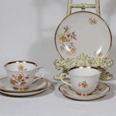 Arabia Myrna kahvikupit ja lautaset, 2 kpl, suunnittelija Olga Osol, siirtokuva