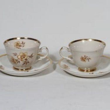 Arabia Myrna kahvikupit, 2 kpl, suunnittelija Olga Osol, siirtokuva