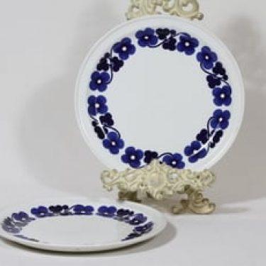 Arabia Aamu lautaset, matala, 2 kpl, suunnittelija Esteri Tomula, matala, serikuva, retro