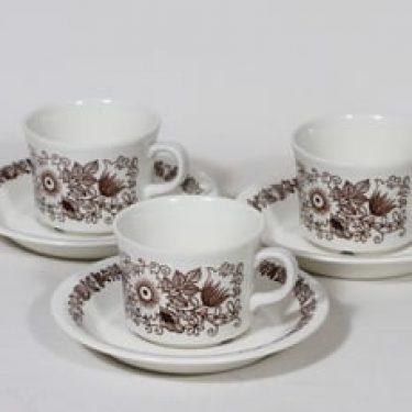 Arabia Tuula kahvikupit, 3 kpl, suunnittelija , serikuva
