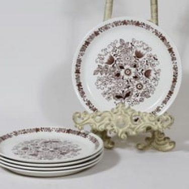 Arabia Tuula leivoslautaset, 4 kpl, suunnittelija , serikuva