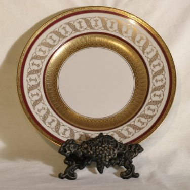 Arabia AB plate, decorative printing, ornament, gold-plated