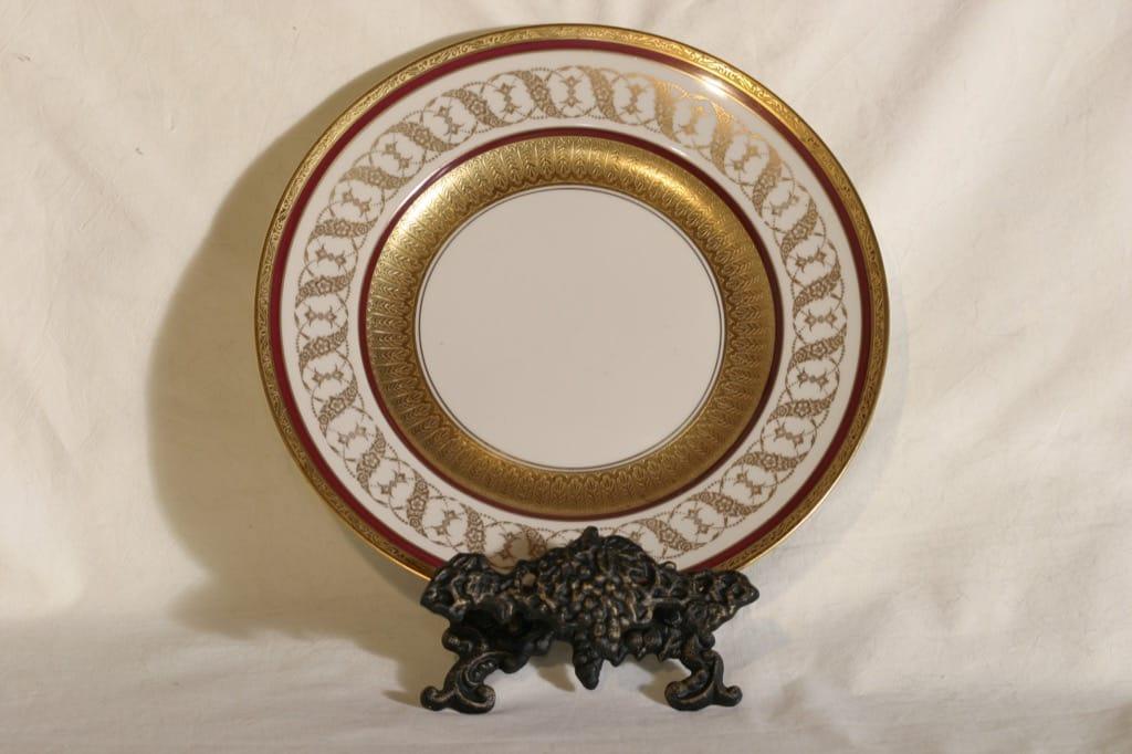 Arabia AB lautanen, suunnittelija , painokoriste, ornamentti, kullattu