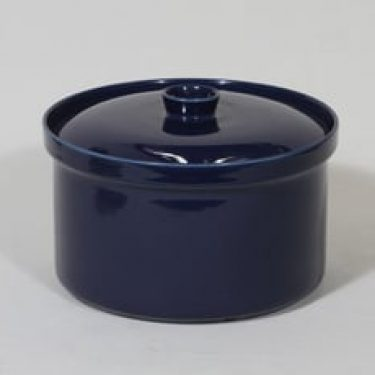 Arabia Kilta vuoka, sininen lasite, suunnittelija Kaj Franck,
