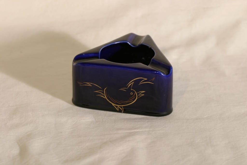 Arabia XP tuhka-astia, käsinmaalattu, suunnittelija , käsinmaalattu, art deco