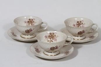 Arabia Raili kahvikupit, 3 kpl, suunnittelija Svea Granlund, siirtokuva