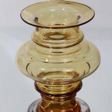Riihimäen lasi Tornado maljakko, amber, suunnittelija Tamara Aladin,