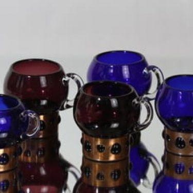 Kumela mukit, eri värejä, 5 kpl, suunnittelija Jan Salakari,