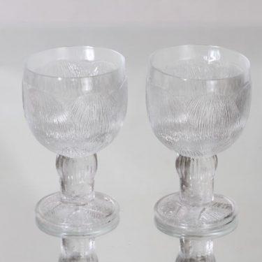 Nuutajärvi Pioni lasit, 20 cl, 2 kpl, suunnittelija Oiva Toikka, 20 cl