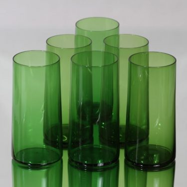 Kumela glasses, green, 6 pcs