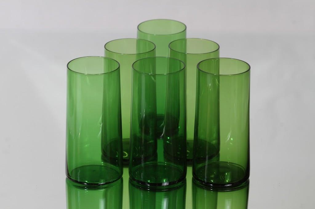 Kumela lasit, vihreä, 6 kpl, suunnittelija ,