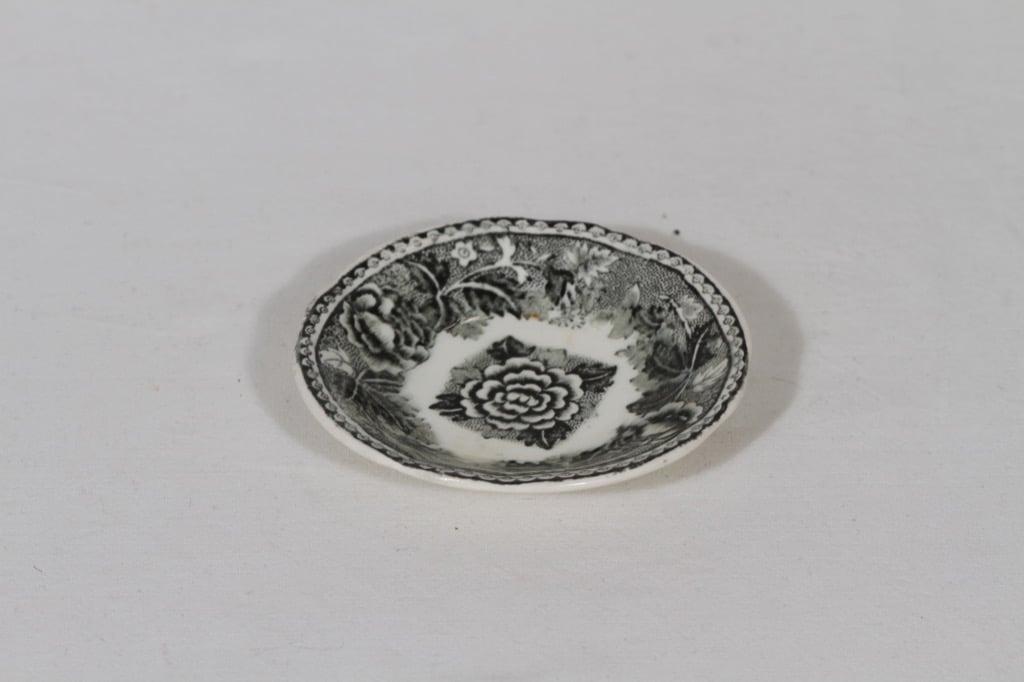 Arabia Maisema butter platter, black, small, copper ornament