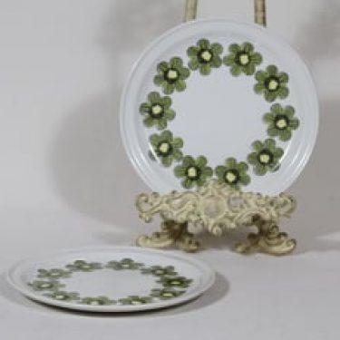 Arabia Primavera lautaset, 2 kpl, suunnittelija Esteri Tomula, pieni, serikuva, retro