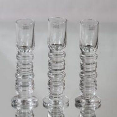 Nuutajärvi Jatsari lasit, 3 cl, 3 kpl, suunnittelija Oiva Toikka, 3 cl, pieni