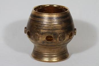 Savitorppa kynttilälyhty, signeerattu, suunnittelija Erkki Stenius, signeerattu, suuri, käsindreijattu, kullattu