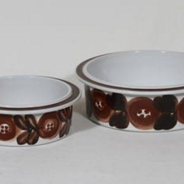 Arabia Rosmarin kulhot, eri kokoja, 2 kpl, suunnittelija Ulla Procope, eri kokoja, käsinmaalattu, signeerattu
