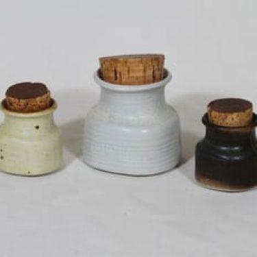 Arabia maustepurkit, eri kokoja, 3 kpl, suunnittelija Francesca Lindh, eri kokoja