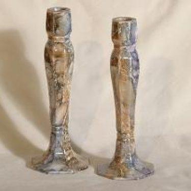 Arabia Loistomarmori kynttilänjalat, 2 kpl, suunnittelija ,