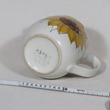 Arabia Aurinkoruusu kaadin, 1.3 l, suunnittelija Hilkka-Liisa Ahola, 1.3 l, käsinmaalattu, signeerattu kuva 3