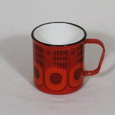 Finel muki, punainen, suunnittelija , serikuva, retro