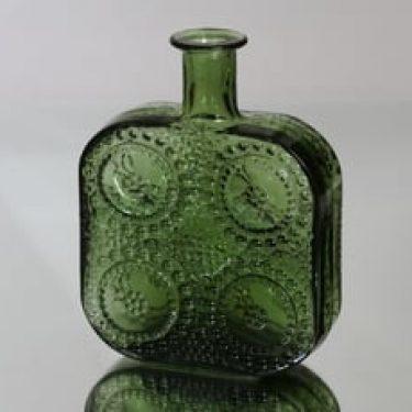 Riihimäen lasi Grapponia koristepullo, vihreä, suunnittelija ,