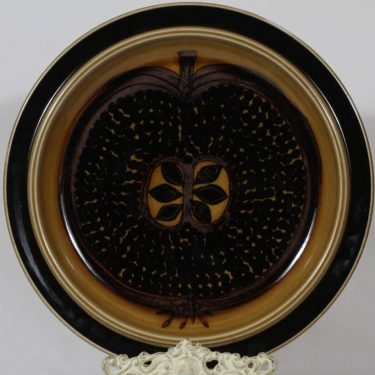 Arabia Fructus platter, hand-painted, suunnittelija Gunvor Olin-Grönqvist, big, signed, retro