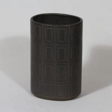 Arabia Oliivi maljakko, ruskea, suunnittelija Olga Osol, funktionalismi