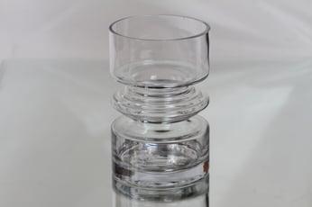 Riihimäen lasi Tiimalasi maljakko, kirkas, suunnittelija Nanny Still,
