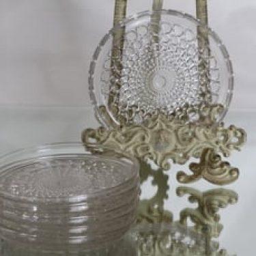 Riihimäen lasi Merja lautaset, kirkas, 6 kpl, suunnittelija Tamara Aladin, pieni