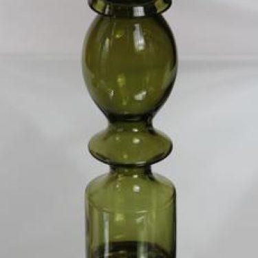 Riihimäen lasi Pompadour maljakko, oliivinvihreä, suunnittelija Nanny Still,