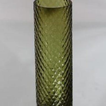 Riihimäen lasi 1491 maljakko, vihreä, suunnittelija Tamara Aladin,