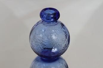 Riihimäen lasi Tellus koristepullo, sininen, suunnittelija Erkkitapio Siiroinen, pieni