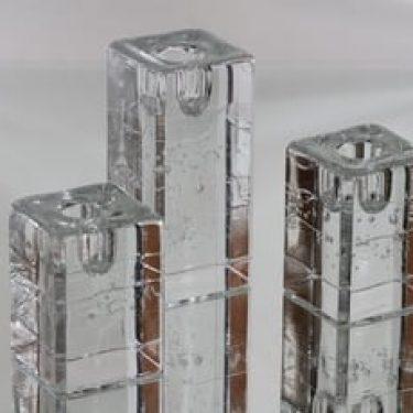 Iittala Arkipelago kynttilänjalat, eri kokoja, 3 kpl, suunnittelija Timo Sarpaneva, eri kokoja