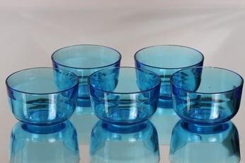 Nuutajärvi 5537 annoskulhot, sininen, 5 kpl, suunnittelija Kaj Franck,