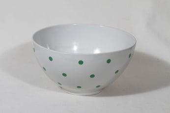 Arabia Ping Pong kulho, vihreä, suunnittelija Raija Uosikkinen, serikuva, retro