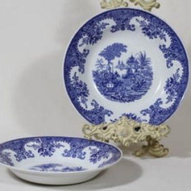 Arabia Canton lautaset, syvä, 2 kpl, suunnittelija , syvä, kuparipainokoriste