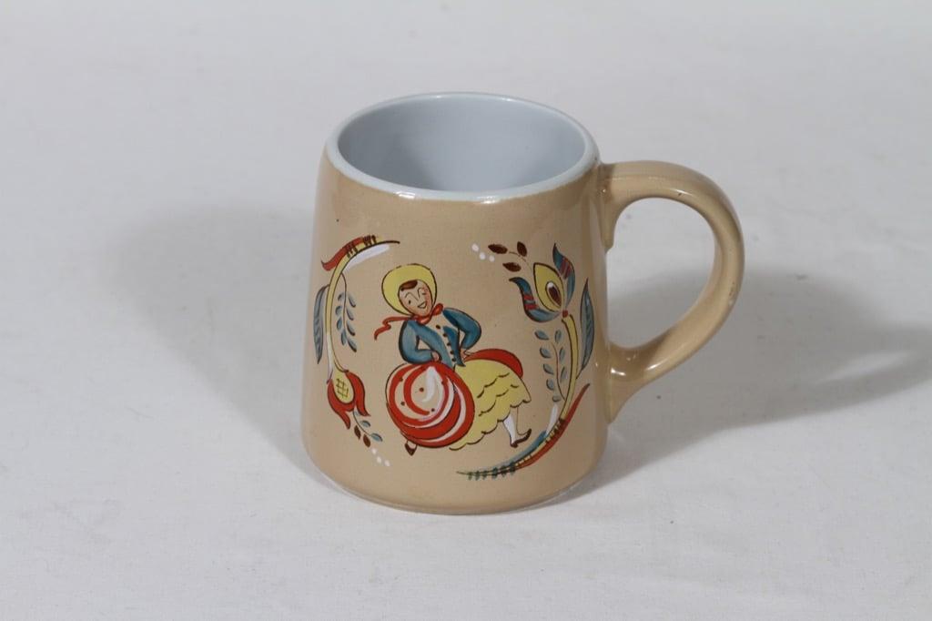 Arabia Kesti beer mug, 40 cl, designer Svea Granlund, hand-painted