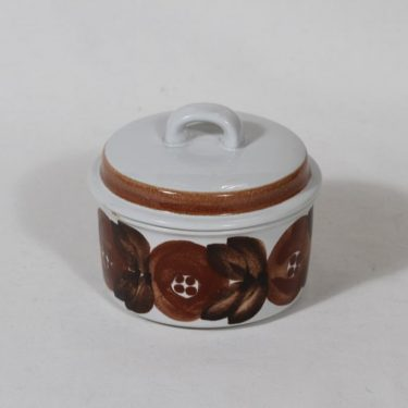 Arabia Rosmarin sokerikko, käsinmaalattu, suunnittelija Ulla Procope, käsinmaalattu, pieni, signeerattu