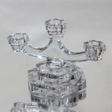 Riihimäen lasi kynttilänjalka, kirkas, suunnittelija ,
