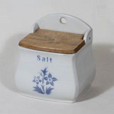 Arabia EG suola-astia, suunnittelija , puhalluskoriste, puukansi