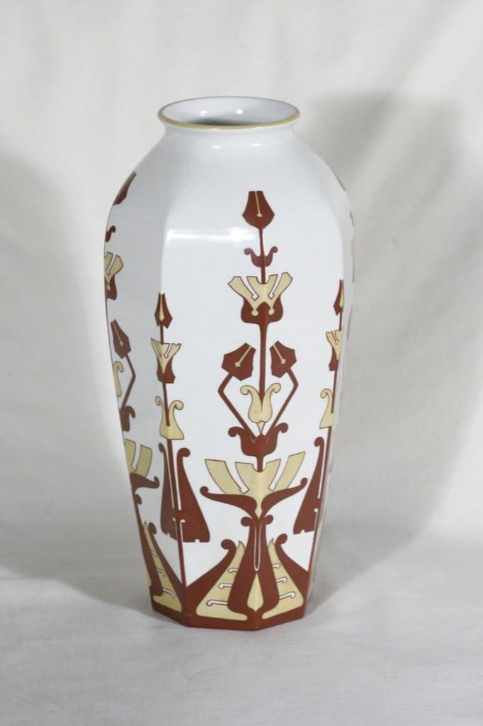Arabia Fennia maljakko, käsinmaalattu, suunnittelija , käsinmaalattu