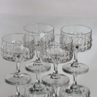 Riihimäen lasi Grappo lasit, 14 cl, 4 kpl, suunnittelija Nanny Still, 14 cl, jalallinen